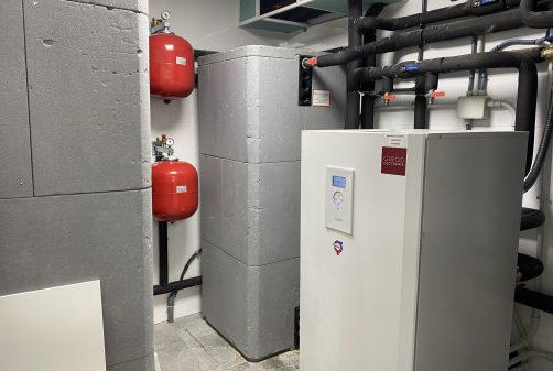 Cuarto de instalaciones de geotermia